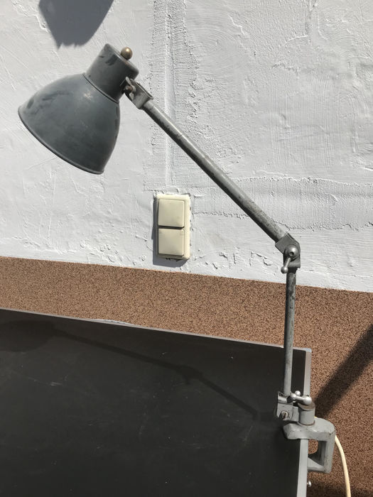 Designer unknown - clip-on lamp, industrial design