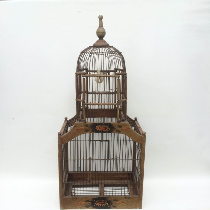 A large bird-cage with two levels - Mid 20th century