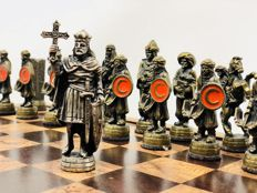 Holy War chess set Christianity and Muslim World.