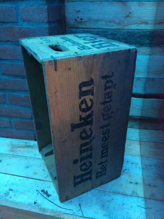 Original. Wooden Heineken crate