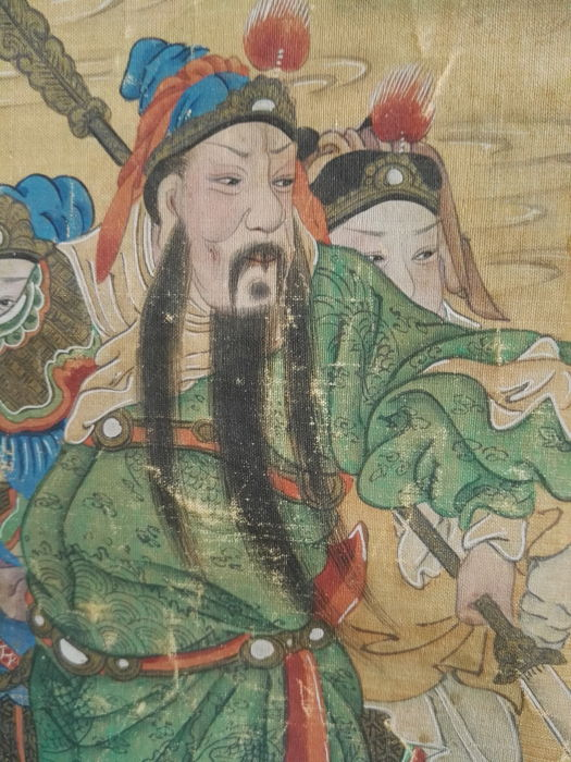 Painting on scroll, Taoist deity - China - 18th century