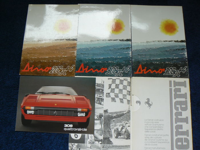 Original brochure lot Ferrari Dino 208 308