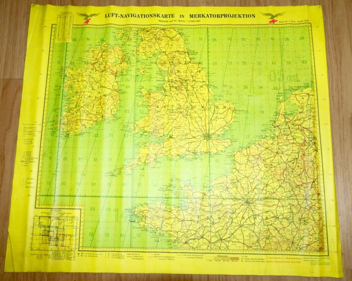 Navigation map of the luftwaffe 1941