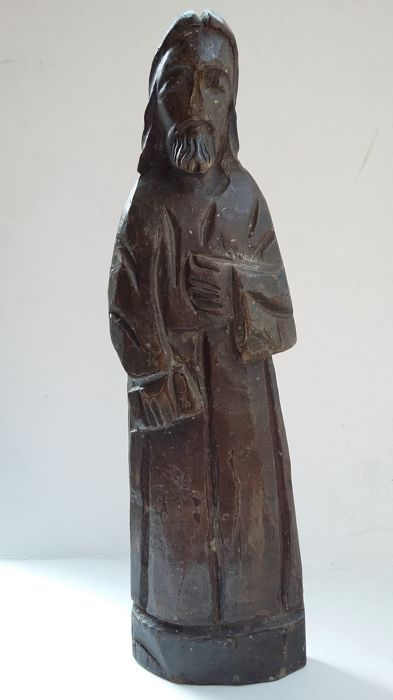 Wooden Saint Peter sculpture