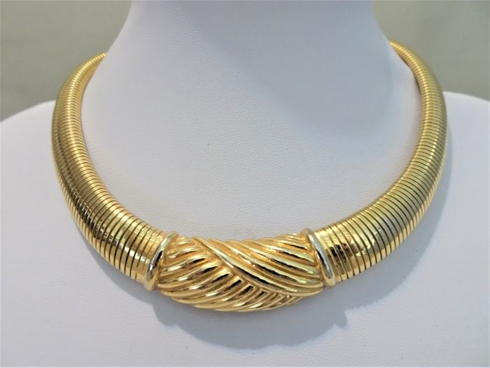 Christian Dior - Gold plate XL Choker Necklace - 1970s - Vintage