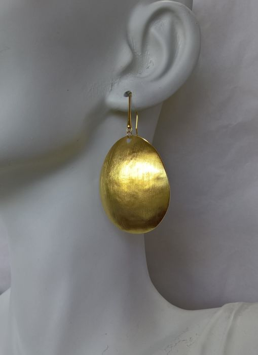 Pair of Earrings in 19.25 kt Gold - Hand-Crafted in Portugal - 11.4 g