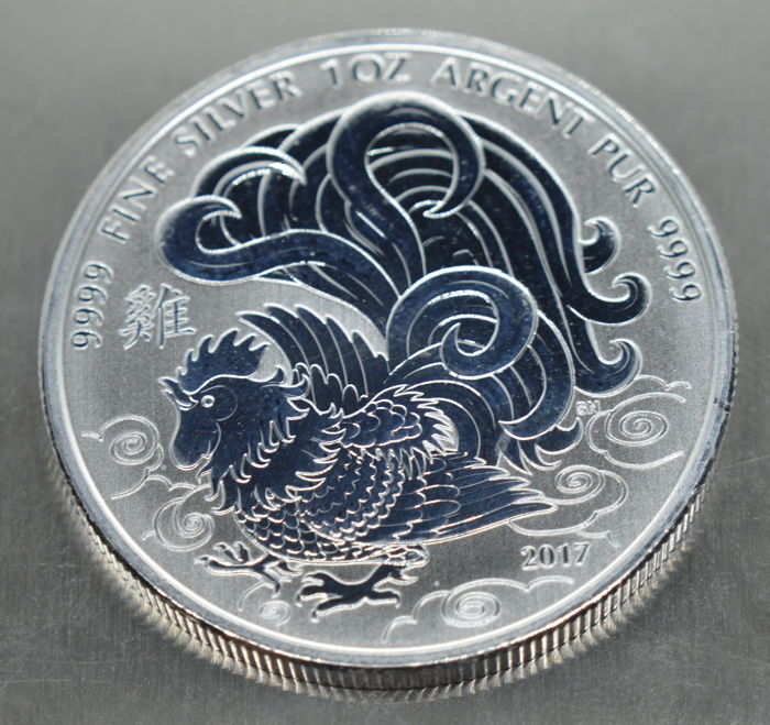 Canada - 5 Dollar 2007 Year of the Rooster - 1 Oz - Silver