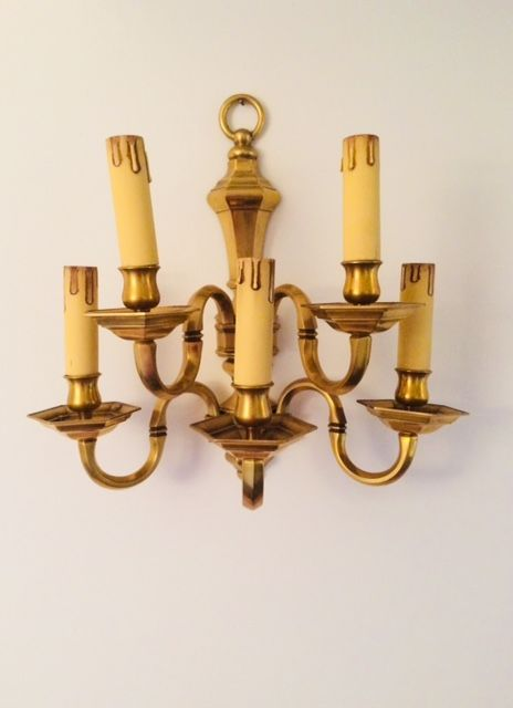 A wall lamp applique signed heavy brass, Lamp Art, Italy, 1970s