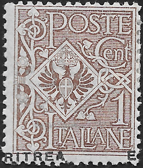 Italian Eritrea 1924 - lot with variety - Sassone NN. 56i, 59c, 77c, 77caa