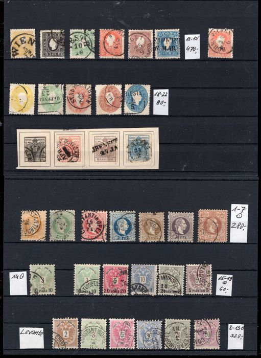 Austria 1850/1950 - Collection with Levante, Lombardy, Veneto and Montenegro