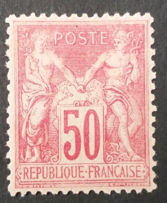 France 1900 - Sage type I, 50 c. rose - Yvert 104