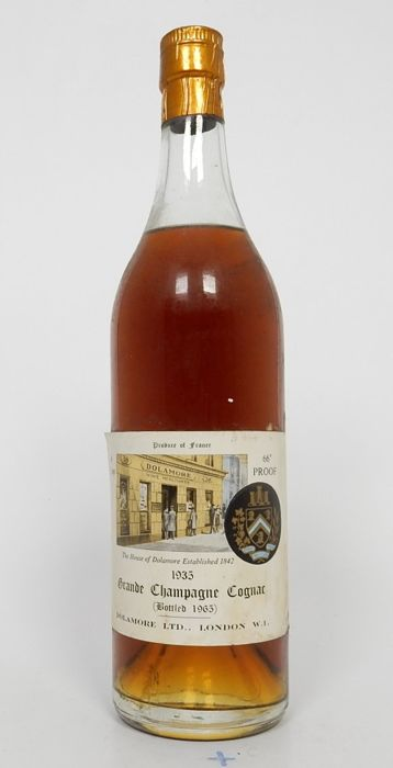 Superb 1935 Grande Champagne cognac - Dolamore Ltd London wine merchants