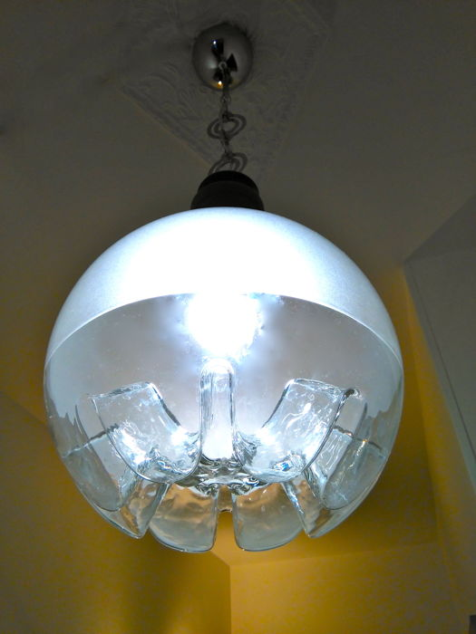 Mazzega - Large spherical pendant light