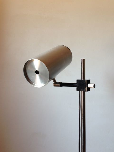 Maria Pergay - Uginox for Ugine-Gueugnon - High stainless steel floor lamp