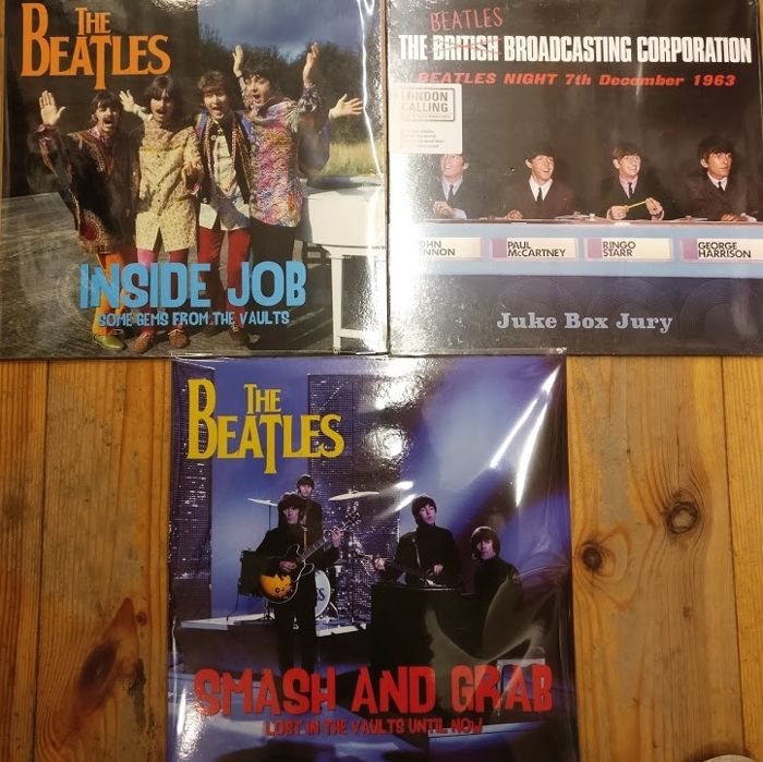 Three albums of The Beatles || Limited edition || Coloured vinyl || Mint & Sealed
