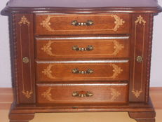 Large jewelry wooden box - two cabinets and four drawers - 20th century - France
