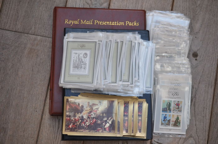 British Commonwealth and Britain 2002 - Lot met 2 mappen aangevuld met 352 blokken