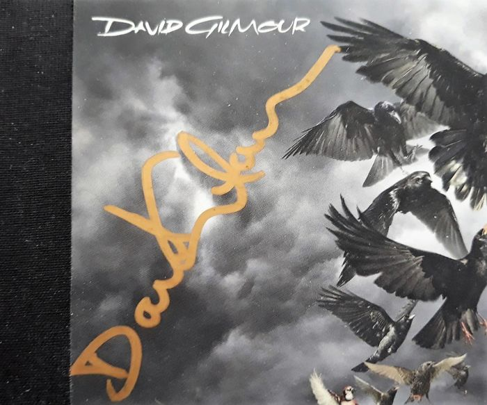 David Gilmore: Guitarist/Vocals for Pink Floyd - Hand Signed CD (RATTLE THAT ROCK) with COA- His Best Solo Music & Vocals/Floyd Inspired.