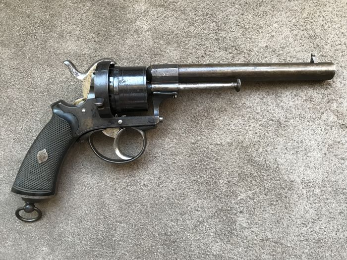 Exceptional Long 9mm pinfire revolver type Lefaucheux - ca. 1860