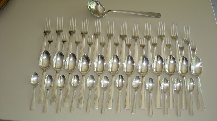73 piece silverware set, Art deco style, Ercuis, France, 1930