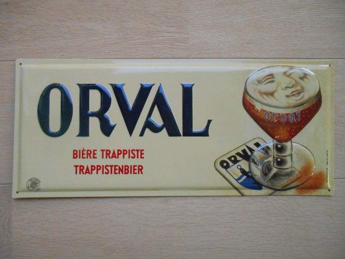 Metal advertising sign Orval Trappist beer 2003