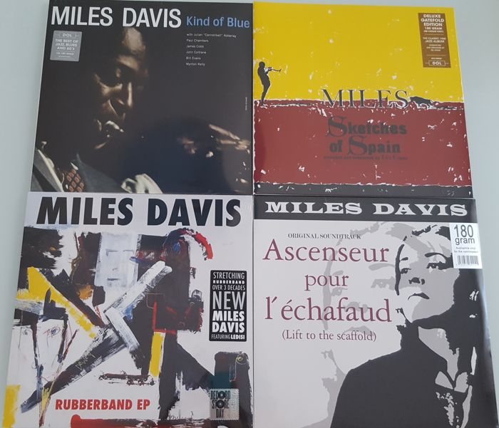 Miles Davis - Lot of 3 x LP + 1 x EP (RSD 2018) / Kind Of Blue / Sketches Of Spain / Ascenseur Pour L'Échafaud (Lift To The Scaffold)  / Rubberband EP (RSD 2018) / Sealed