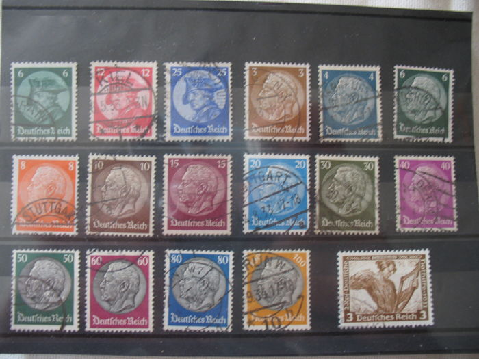 German Empire 1933/1945 - beautiful stamp collection