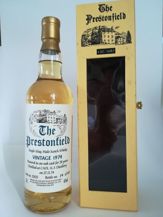 Caol Ila 1974 28 years old - Prestonfield - cask no.12625