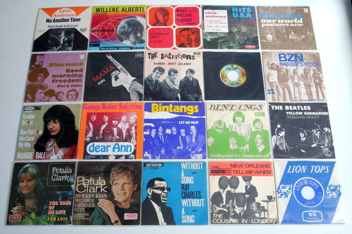 20x Pop Singles from the 1960's and Early 1970's