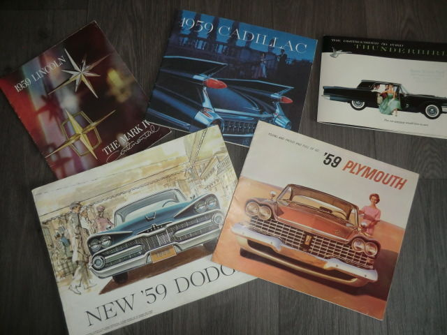 Brochures/ Catalogues - ChryslerFord,Cadillac,Plymouth,Dodge,Lincoln, (13 items)