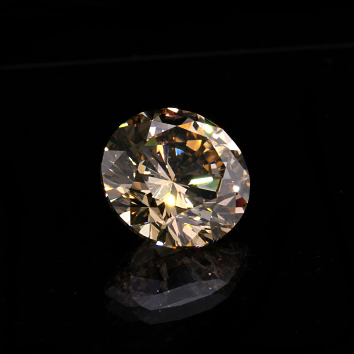 "1.62 Ct. Natural Fancy Light Orangy brown Color Round Brilliant Diamond. G/VG/EX ""De Beers Certified"""