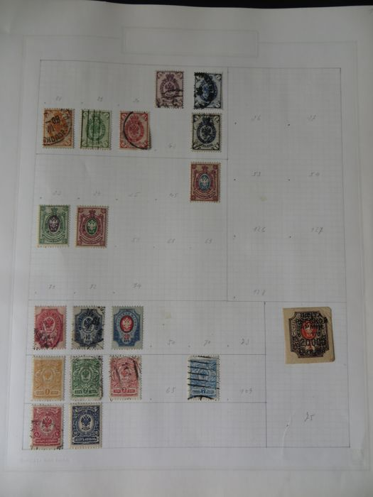 Russia (1857-1917) - Collection on album pages