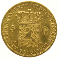 Netherlands - 5 Gulden 1827 (Brussel) Willem I - Gold