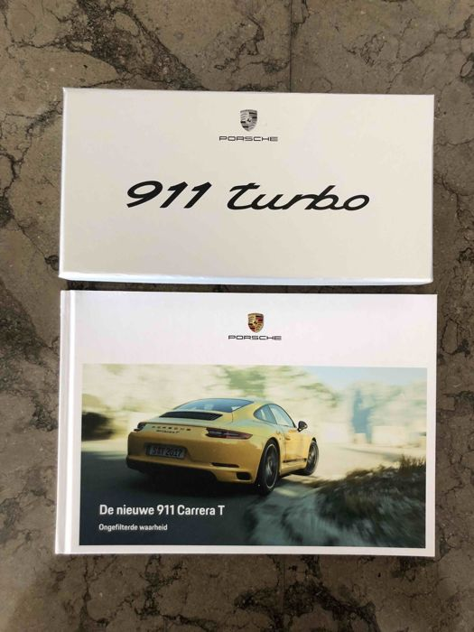 Dutch version - Porsche 911 Turbo - Paperweight + commercial book