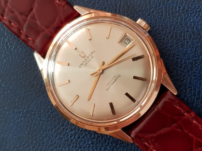 Universal Genève - Freccero,18k Solid Gold Automatic Micro rotor - Heren - 1970-1979