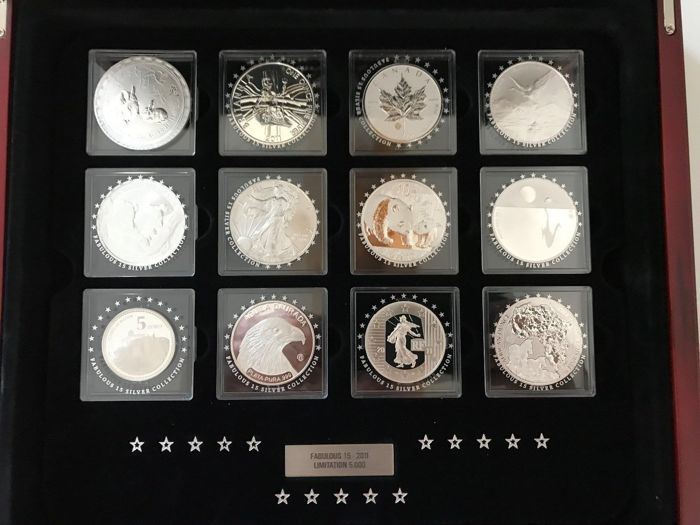 World - Fabulous 15 - Silver Collection  2011 15 x 1 Oz - Silver