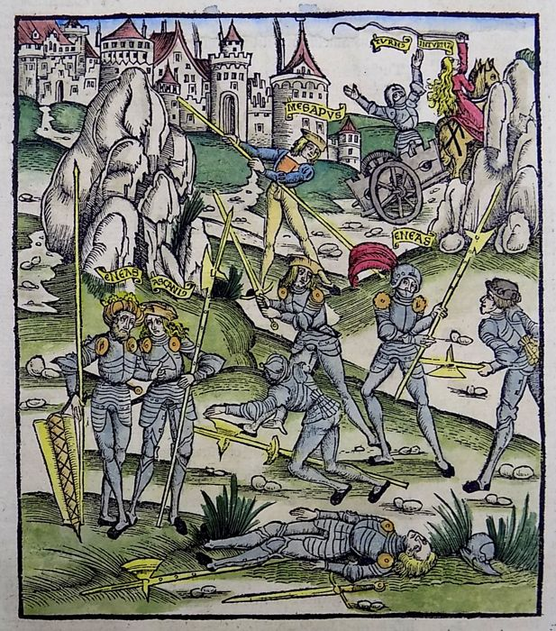 Grüninger Master - Woodcut from Virgil's Aeneid: Aftermath of Battle - 1502