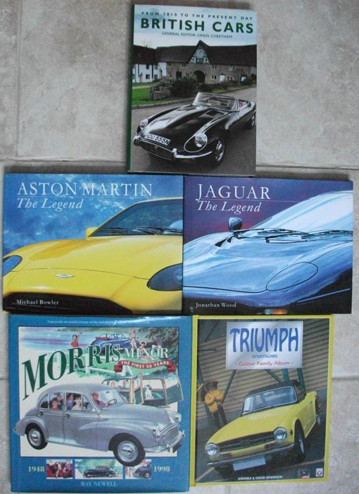 Books - BRITISH CLASSIC CARS (5 items)