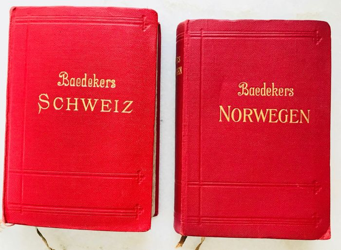 Karl Baedeker - Baedekers Schweiz and Baedekers Norwegen - 1914/1927