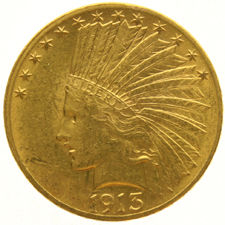 United States - 10 Dollars 1913 Indian Head - Gold