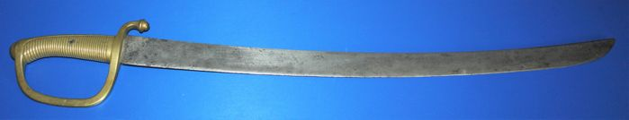 France early 19th century (Napoleon era) Cutlass Briquet Sword with brass hilt, numbered, in good condition.