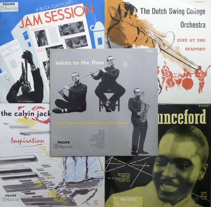 US and NL 1950's Jazz - Lot of 12 original Philips albums (Philips 1955-1961) - NL press