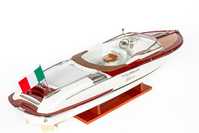 Model Boat Wood Riva Aquariva van GUCCI 53cm - Hout