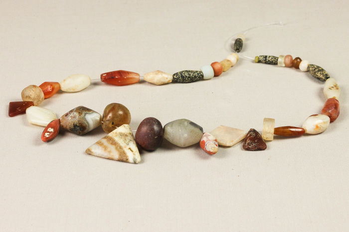 Selection of 36 Old Beads from Mali