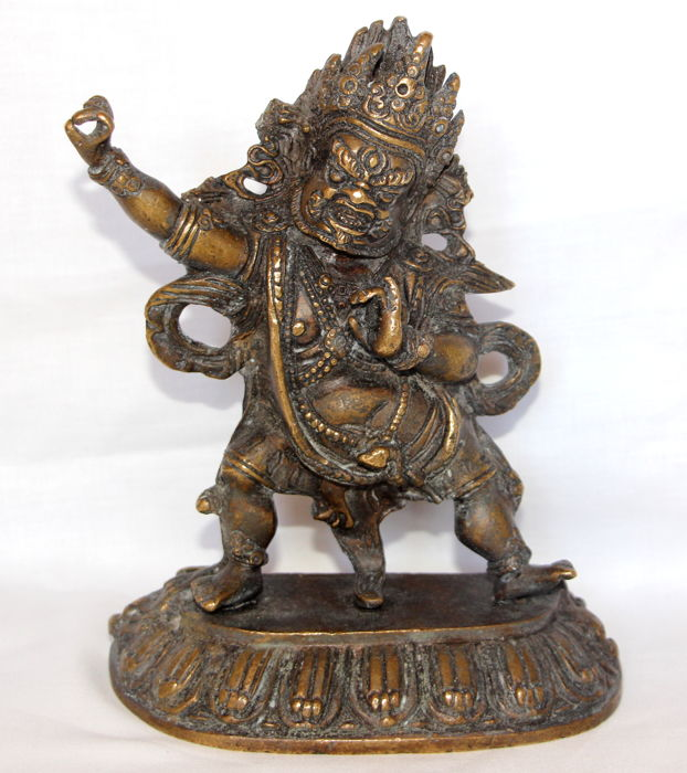 Bronze statue of Vajrapani Buda Protector - Tibet - second half of the 20th century