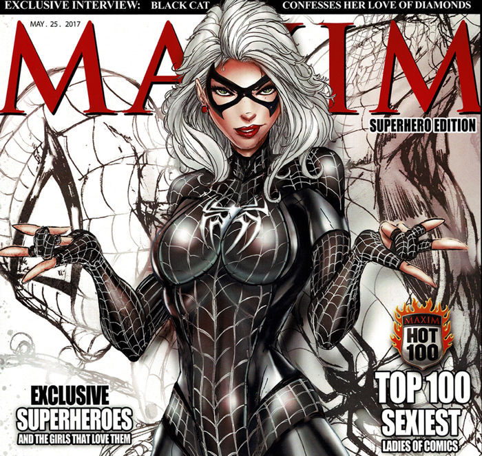 Black Cat - MAXIM Magazine Cover - Jamie Tyndall - Signed Limited Edition Poster  - First edition