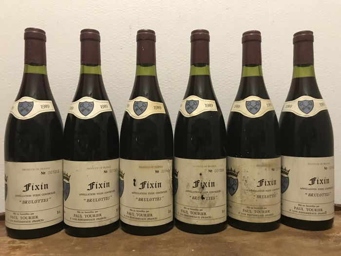 "1989 Fixin ""Brulottes"", Paul Tourier / Total 6 Bottles"