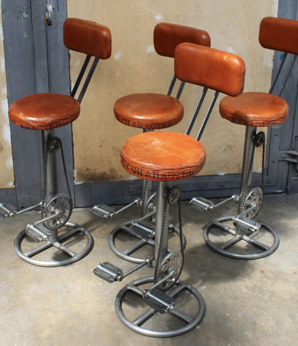 Magnificent Unknown Designer Set Of 4 Handmade Bar Stools Catawiki Gamerscity Chair Design For Home Gamerscityorg
