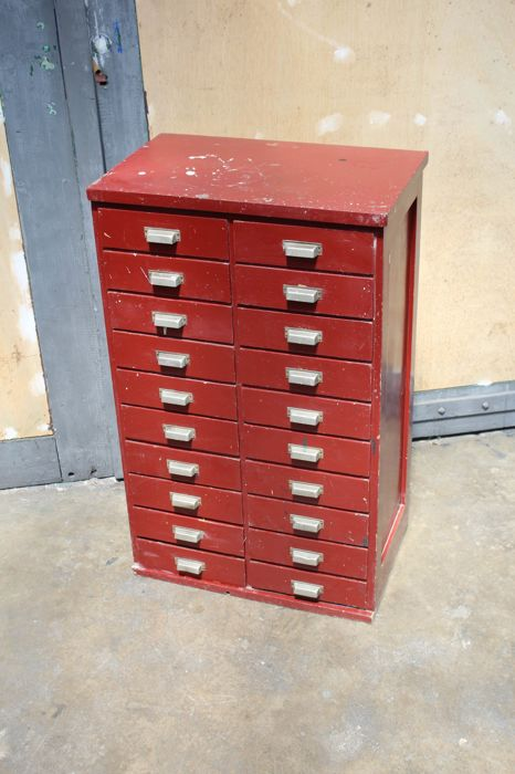 Designer unknown - Wooden workshop/filing cabinet