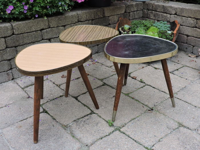 Three Vintages side tables - 1965